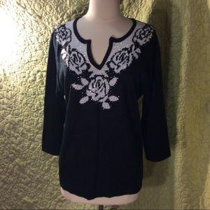 Cathy Daniels women's sweater. Size L.